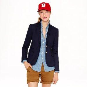 J. Crew Jackets & Coats - J Crew Schoolboy Blazer Navy Blue Gold Buttons